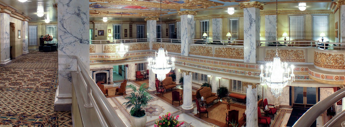 The interior of the French Lick resort in the winter.