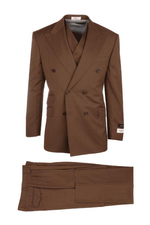 Tiglio Russo Wide Leg Double Breast Suit & Vest – R899612/4503