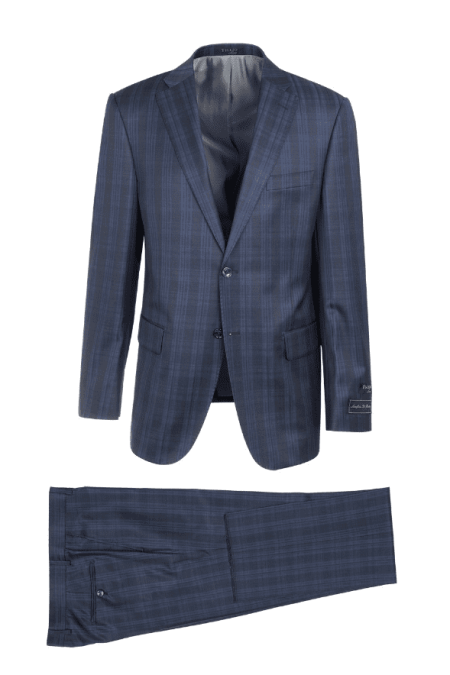 Tiglio Luxe Plaid Modern Fit Suit & Vest Midnight/Royal – Dolcetto CV87.711/1