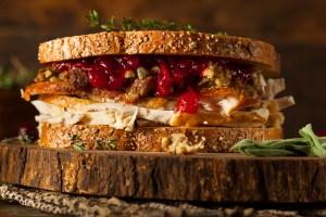 leftover thanksgiving sandwich