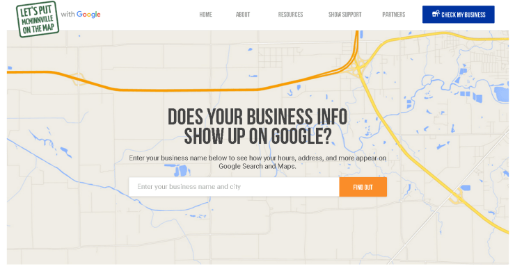 gybo.com lets you check to see if your business is on Google.