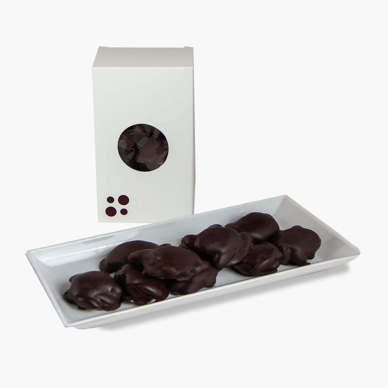 dark chocolate almond turtles
