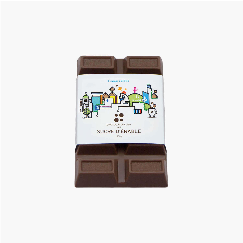 maple milk chocolate bar - souvenir label