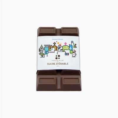 chocolat au lait au sucre d'érable - étiquette souvenir