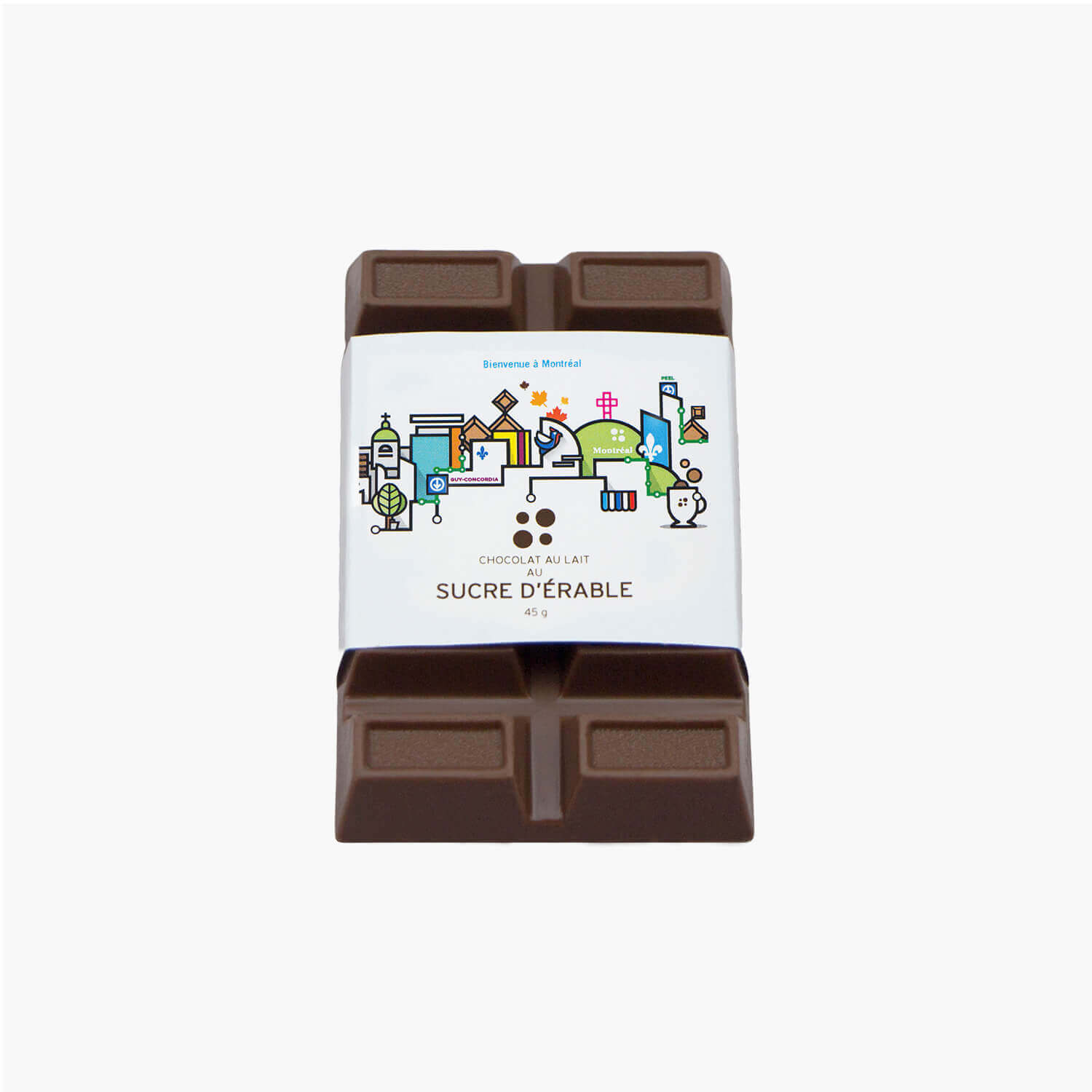 maple milk chocolate bar - souvenir label