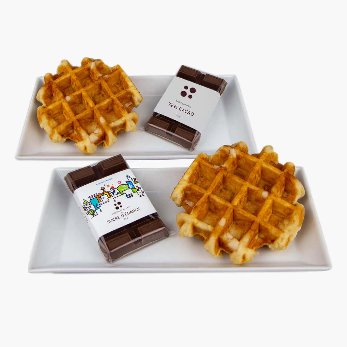 waffles with chocolate - 2 pack