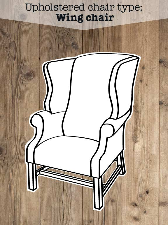 Illustration of Wing upholstered back chair