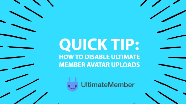 How to disable Ultimate Member Avatar uploads