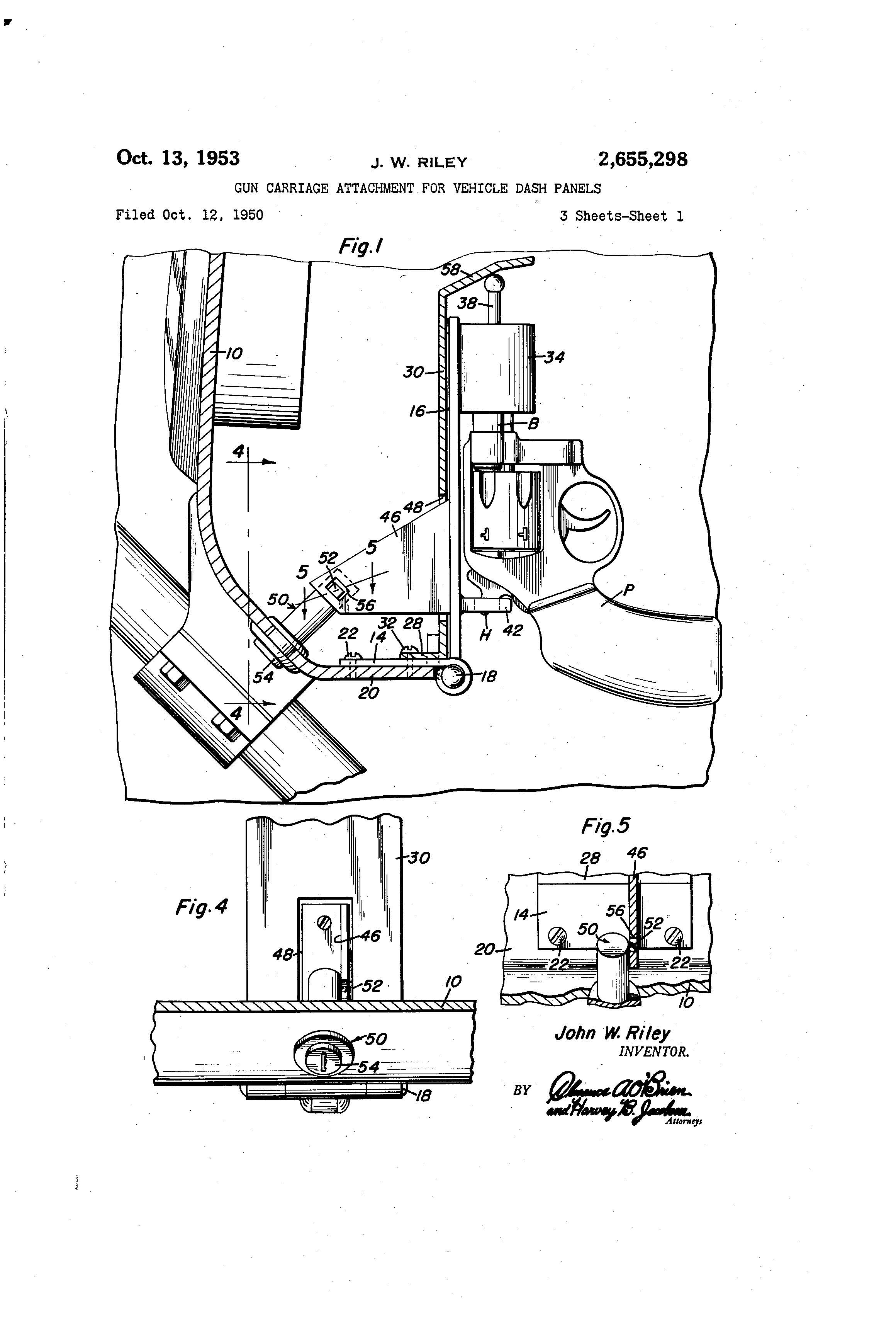 Patent of the Day: Gun Carriage Attachment for Vehicle