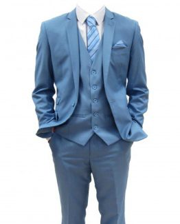 Rex Sky Blue Three Piece Suit Suit Distributors Cork