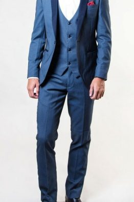 Same Blue Diamond Three Piece Tuxedo Suit Distributors Cork