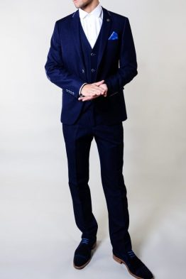 David Denim Look Navy Three Piece Suit | Suits Distributors Cork