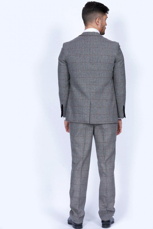 Dion Grey Herringbone Tweed Three Piece Suit Suits Distributors Cork