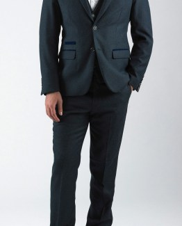 Rayford Navy Herringbone Tweed Three Piece Suit | Suits Distributors Cork
