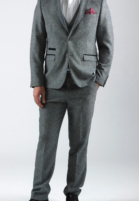 Rayford Grey Herringbone Tweed Three Piece Suit | Suits Distributors Cork