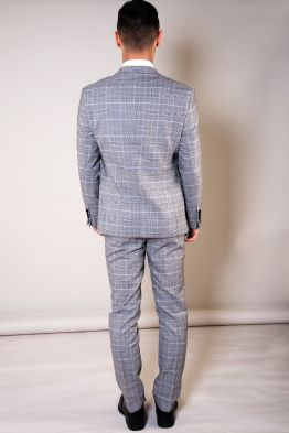 Ross Grey Check Three Piece Suit | Men's Suits Cork | Suits Distributors