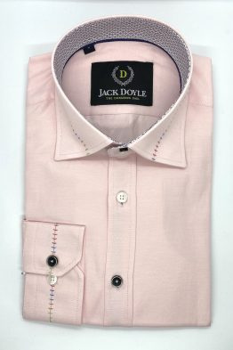 Cork - Jack Doyle Casual Pink Shirt With Trim 1