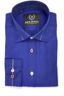 Casual Royal Blue Shirt With Trim 1