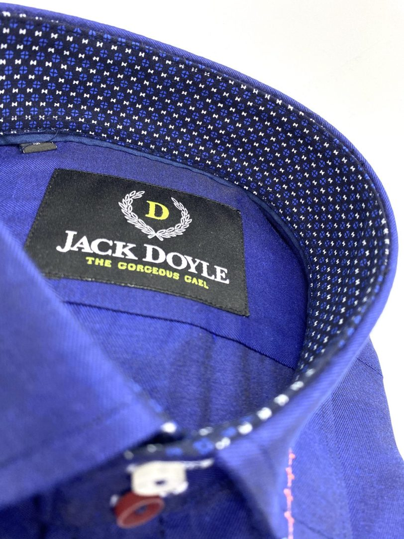 Casual Royal Blue Shirt With Trim 4