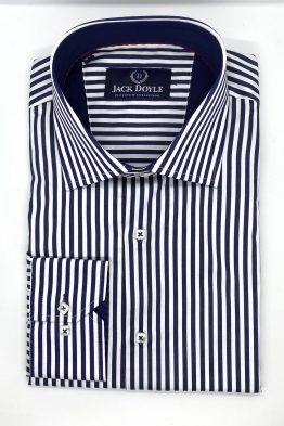 Dark Navy Striped Shirt 1