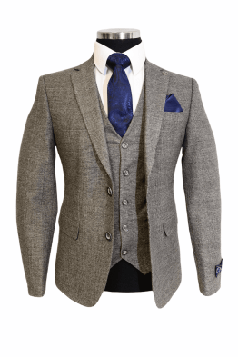 Suits Distributors Cork - Wedding Business Corporate Graduation Suits Cork - Jack Doyle Grey Check Three Piece Suit