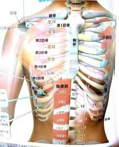 肋間神経痛 ツボ