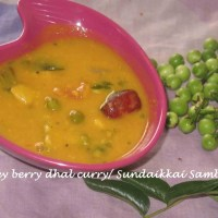 Turkey berry dhal curry/Sundaikkai Sambar
