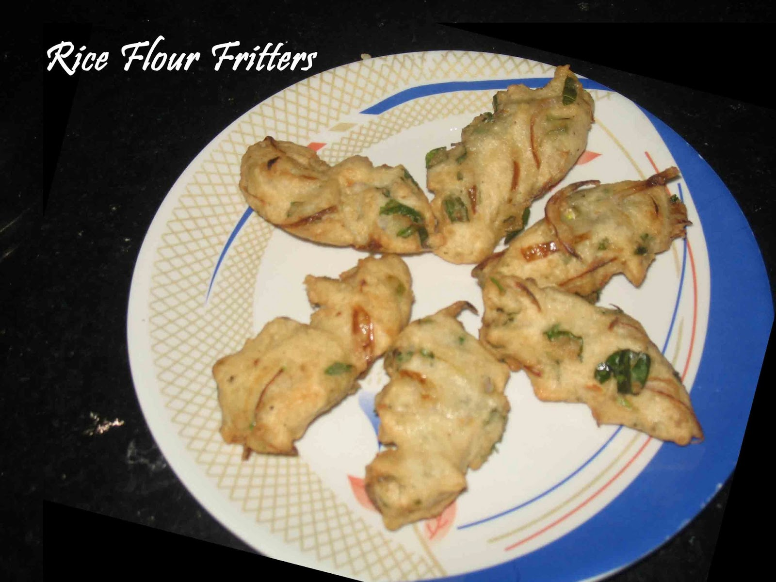 Rice flour fritters