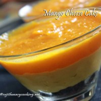 Mango Cheese Cake/No bake Eggless Mango Cheese Cake