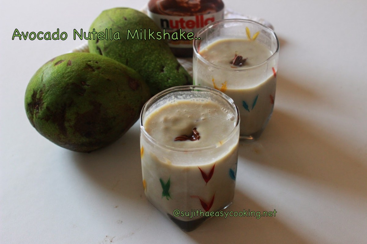 Avocado Nutella Milkshake