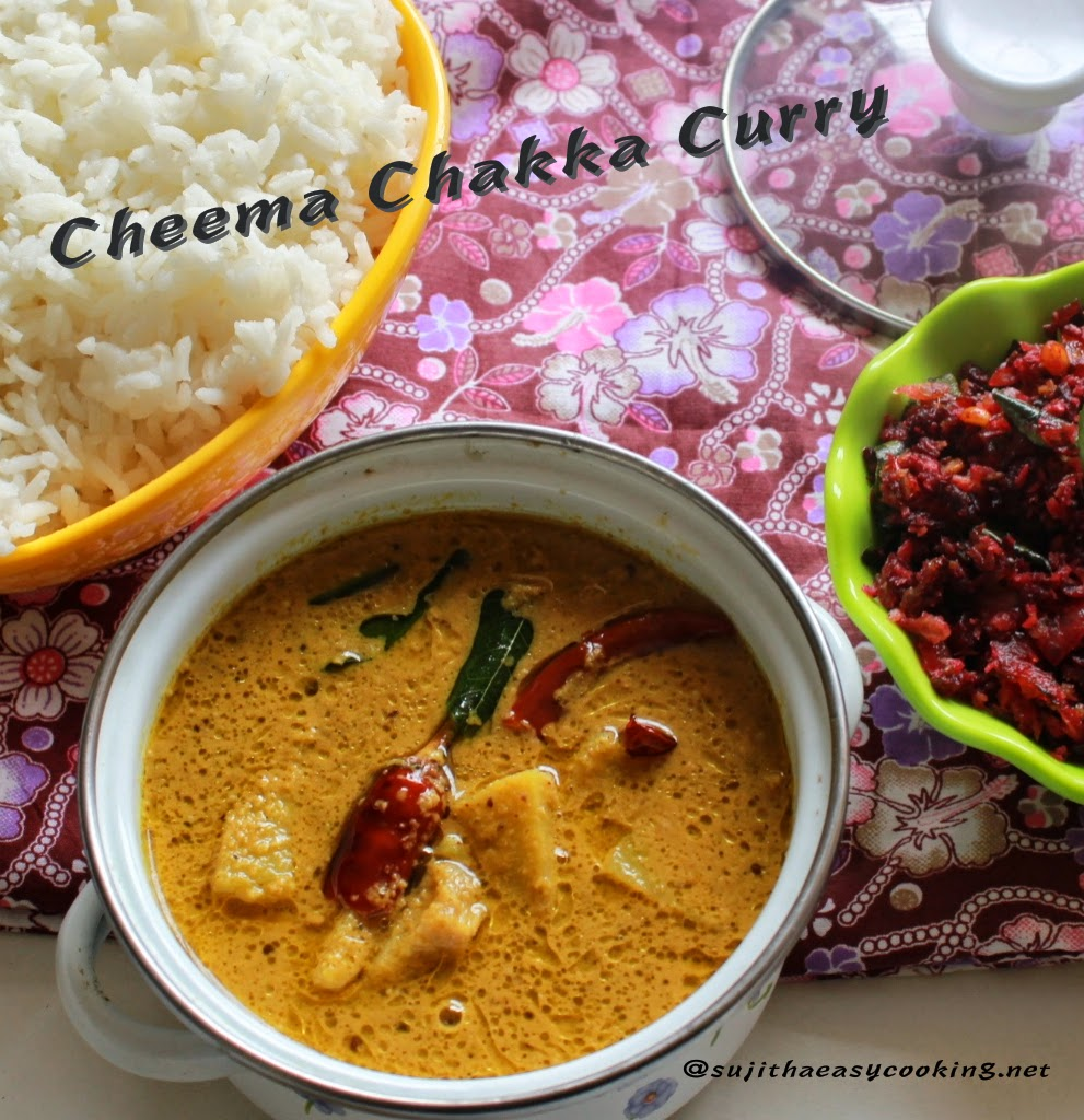 Cheema Chakka Curry/Bread Fruit Gravy/Kadachakka Curry
