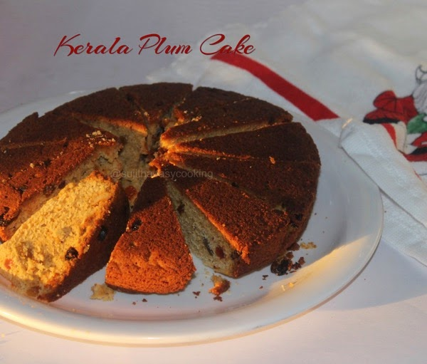 Kerala Plum Cake in Pressure Cooker Method
