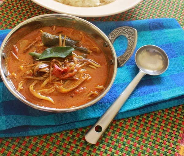 Vazhaipoo Kuzhambu/Banana flower Curry
