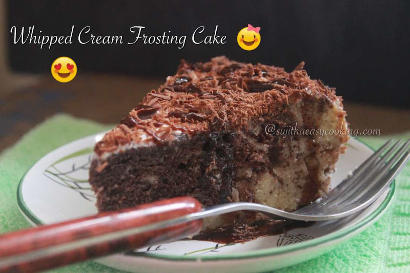 Whipped Cream Frosting Cake/Marble cake