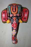 An ornate elephant mask