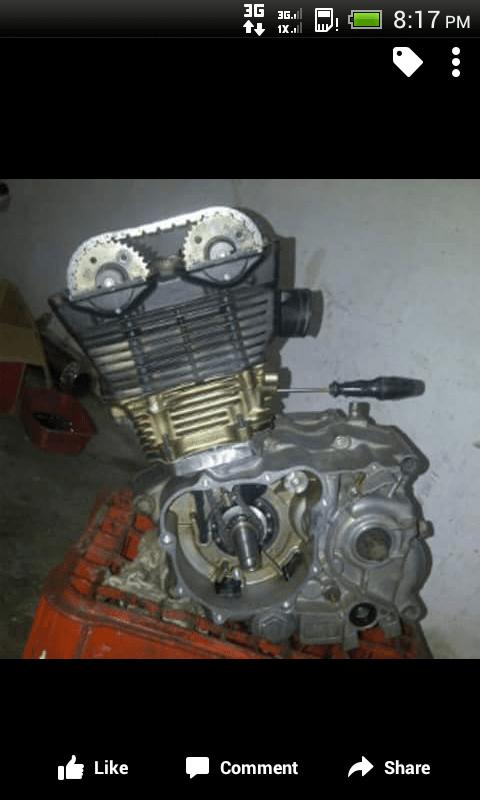 Mesin Honda GL Tiger Pakai Blok Set Satria FU  Suka Motor