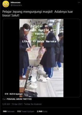 Viral Video Pelajar Jepang Kunjungi Masjid Tokyo, Sikapnya Kejutkan Publik