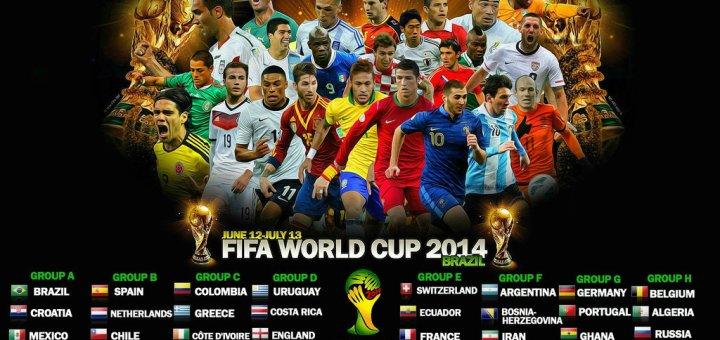 Jadual Perlawanan Piala Dunia 2014 Mengikut Waktu Malaysia