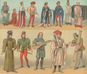 medieval clothing ages middle clothes costume early renaissance history dress europe tunic costumes dark century times male mens gear flowing