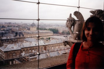 Me and the famous Gargoyle at the top of Notre Dame
