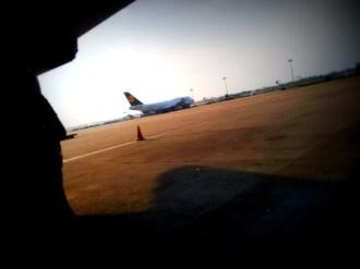 Lufthansa Plane that was stuck in Chennai for a few days