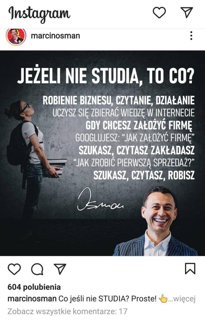 Jeśli nie studia to co - Marcin Osman