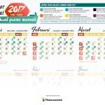 Kalender 2017 + Jadwal Puasa Sunnah | GRATIS