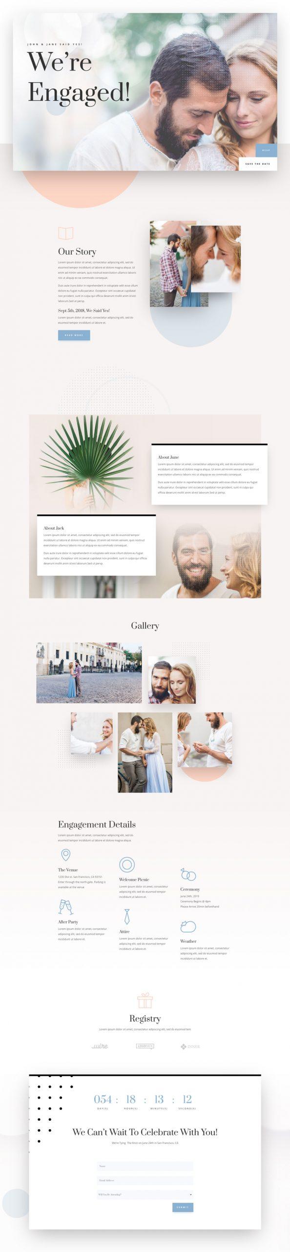 wedding engagement landing page scaled