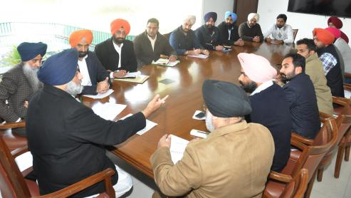 Interaction with the Leaders of YAD and SOI - Sukhbir Singh Badal (1)