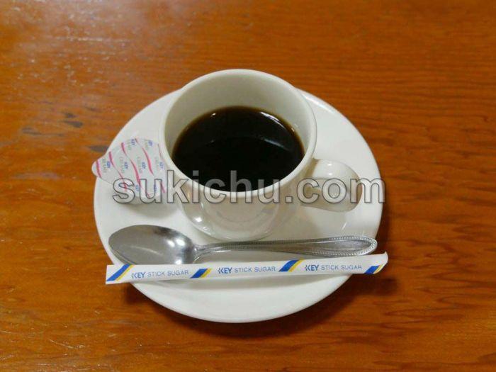 富士食堂水戸ホットコーヒー