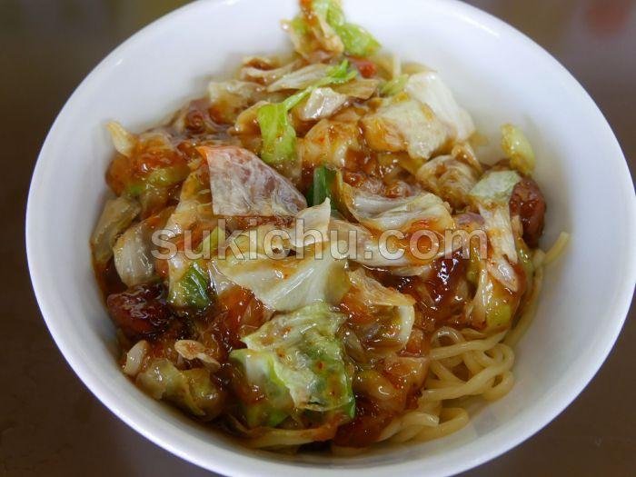 中華料理ラッキー飯店水戸スタミナ冷やしラーメン