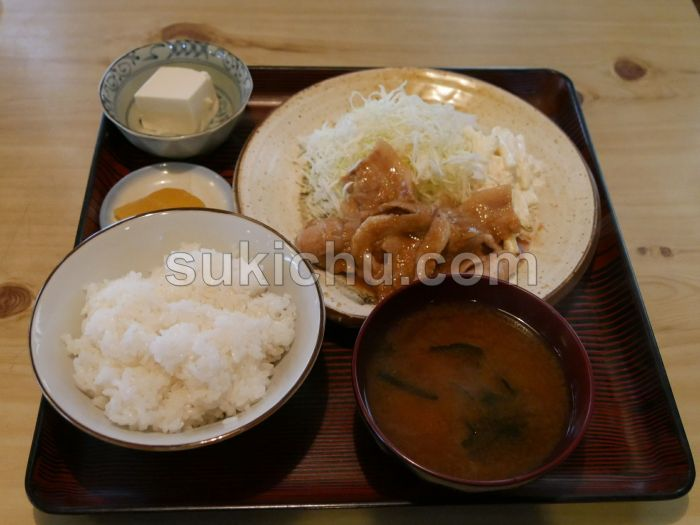 喰処大忠水戸水戸生姜焼定食
