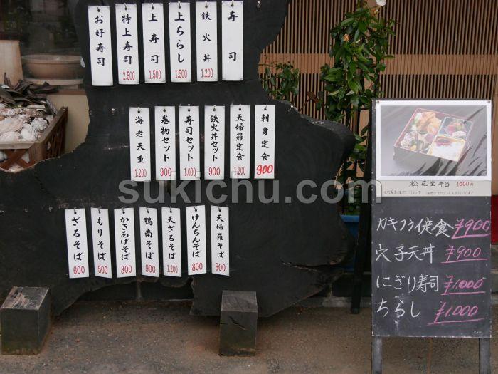 鮨健水戸メニュー表