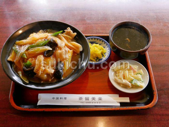 中国料理茶留美楽水戸ネギ丼